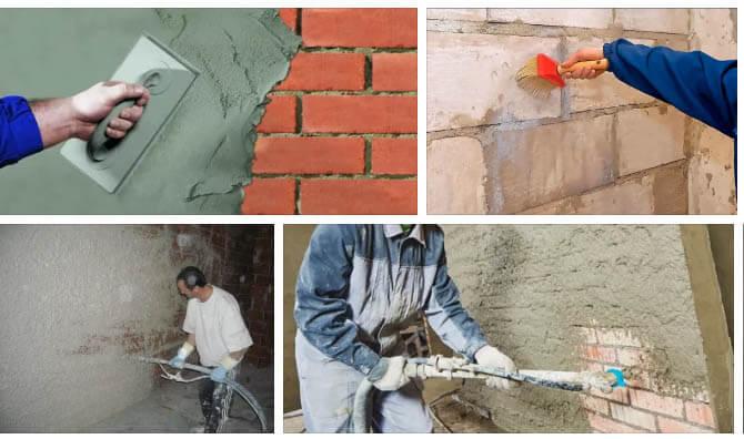 Штукатурка цементная – основа отделочных работ